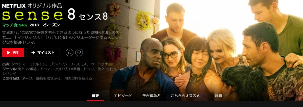 Netflix オリジナル作品 sense8